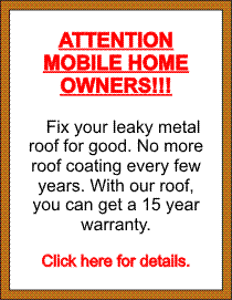 A white board with information for mobile home owners and link